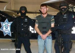 "Isai Martínez Zepeda, the nephew of ""Chapo Guzman"", the leader of the Sinaloa Cartel arrested"