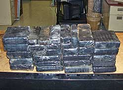 Customs agents find 30 kilos of cocaine
