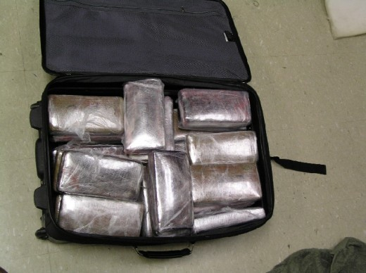 58 lbs of marijuana interdicted on a bus