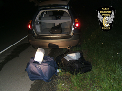 105 lbs of marijuana seized by the Ohio State Patrol