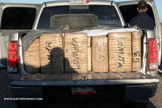 Agents found 3,146 lbs of marijuana in abandoned vehicles