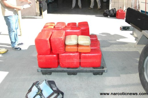 374 Pounds of marijuana seized from a Marine private vessel