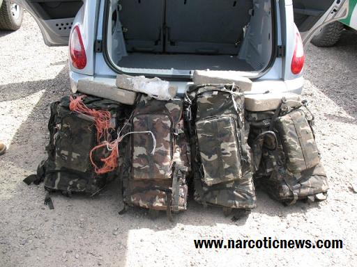 Agents seize over 200 pounds of Marijuana from a vehicle