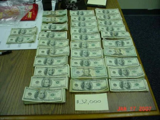 $32,000 seized by a Tennessee Trooper on Interstate 75