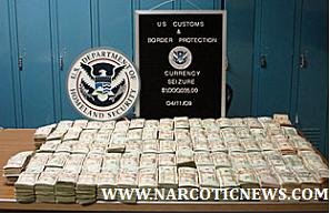 $1,000,035 U.S Dollars seized from a tractor at the border
