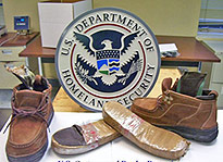 Agents find 2 pounds of heroin inside of shoes