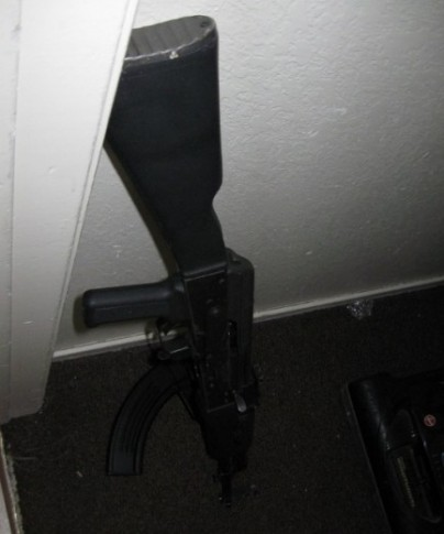 High Powered Rifle seized from Las Vegas Gang Bangers