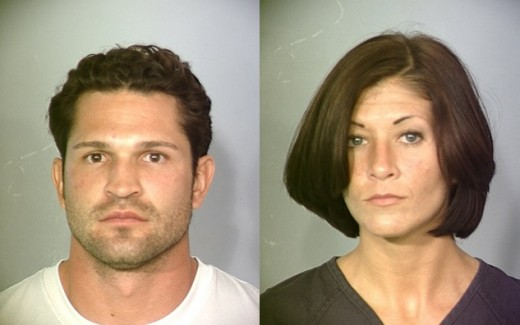 Mugshots of Ezekiel Parraez and Candace Blackwell arrested in Henderson, Nevada