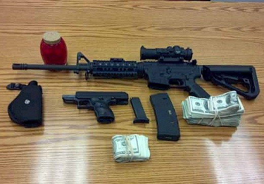 Illinois Trooper seizes $25,037 and AR-15 Rifle