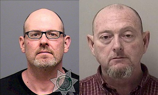 Mugshot photos of Gerald Matthew Wiese (on left) and William Floyd Marsh Jr (on right)