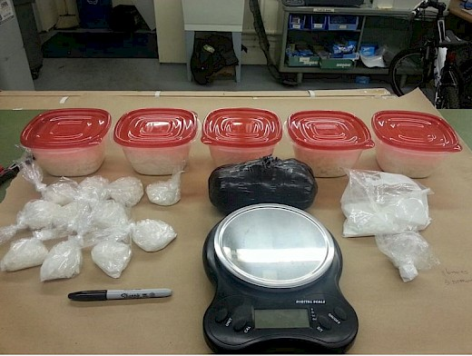 Meth, Cocaine, & Heroin seized from retired Clackamas County Deputy's storage unit in Oregon