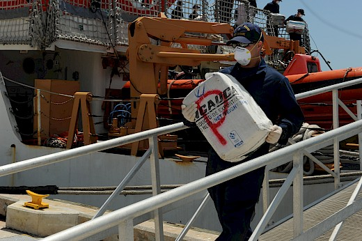 USCG Seized 3,300 Kilos of Cocaine
