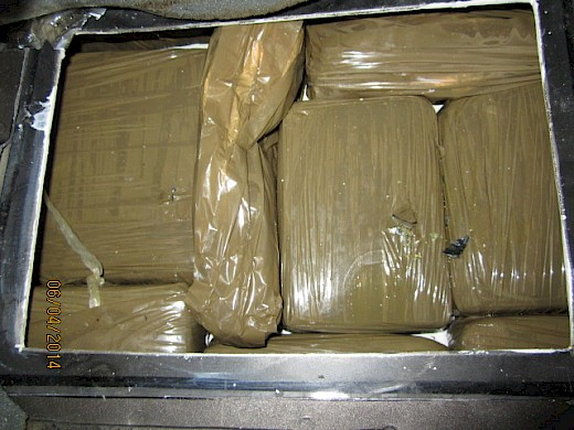 60 Pounds of Marijuana Found in Vehicle's Floor