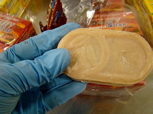 Opium Found Concealed in Bars of Soap