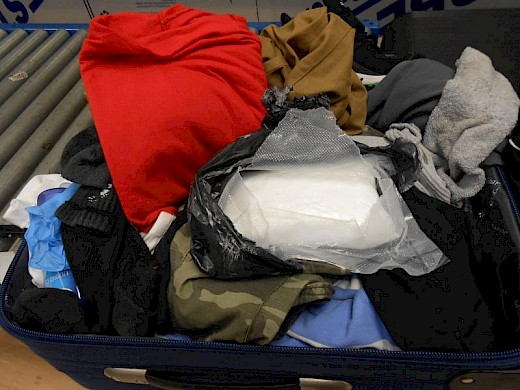Cocaine Seized from Traveler in the Bahamas